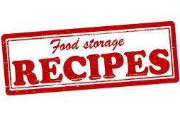 Food storage recipes. Stamp with text food storage recipes inside,  illustration Stock Photography