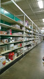 Food storage on shelves selling Stock Photo