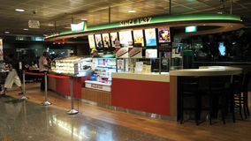 Food store in Changi Airport Singapore Stock Photo