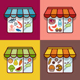 Food store. Flat design Stock Photo