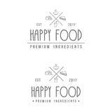 Food Store Modern Logo Vector Stock Images