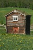 Food storehouse. Ancient Norwegian food storehouse called Stabbur Stock Photography
