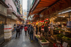 Food stores in Hong Kong Stock Images