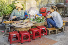 Food street in Hoi An, Vietnam Stock Photos