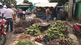 Food at Street Market stock footage