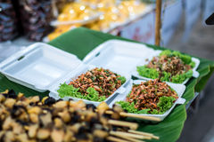 Food Shrimp and vegetables. Street food that people love to eat delicious food tastes delicious. At Chom, to taste food that has never seen Stock Photography