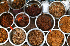 Food of a street restaurants of Yangon Stock Image