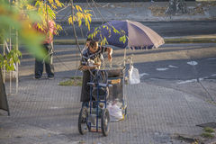 Food Street Vendor in Montevideo Royalty Free Stock Images