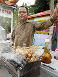 Food. Street vendors sell food at the street market in Madiun, East Java, Indonesia Royalty Free Stock Image
