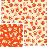 Food - sugar. Vector seamless pattern - 2 colors Stock Image