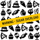 Food sugar. Being careful not to eat too much sugar Stock Photo