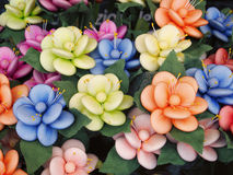 Food. Sugared almonds as petals Royalty Free Stock Photos