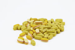 Food supplement pills Royalty Free Stock Images