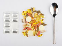 Food Supplements Stock Photo