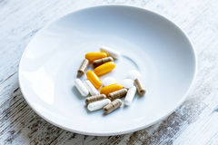 Food supplements Royalty Free Stock Images