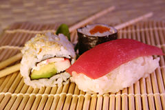 Food: sushi & maki royalty free stock photo