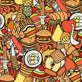 Food and sweets seamless pattern Stock Images