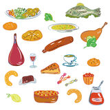 Food and sweets  set Royalty Free Stock Photo