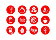 Food symbols Stock Images