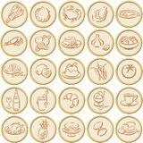 Food symbols Royalty Free Stock Image
