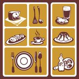 Food symbols set Royalty Free Stock Photos