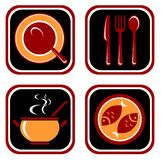 Food symbols set Royalty Free Stock Photography