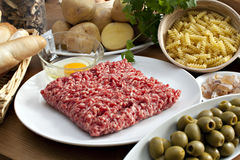 Food on table. Diferent food on the table Stock Images