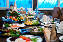 Food on the table Royalty Free Stock Image