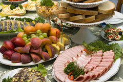 Food on the table Royalty Free Stock Photo