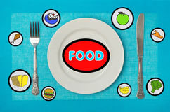 Food on the table Royalty Free Stock Photos