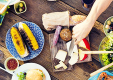 Free Food Table Celebration Delicious Party Meal Concept Royalty Free Stock Images - 57352379