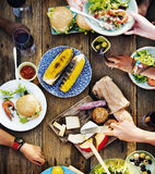 Food Table Delicious  Meal Prepare Cuisine Concept.  Royalty Free Stock Image