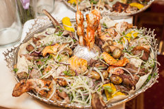Food on table at event Royalty Free Stock Images