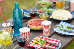 Food on table Stock Images