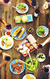 Food Table Healthy Delicious Organic Meal Concept Royalty Free Stock Image