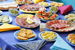 Food table Royalty Free Stock Images