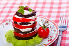 Food - tasty course of aubergine Royalty Free Stock Images