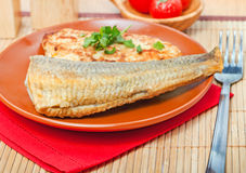 Food - tasty fishy course Royalty Free Stock Image