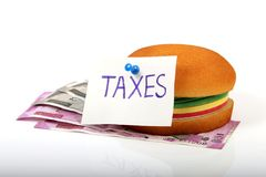 Food taxes Stock Photography