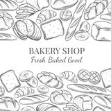 Page design for bakery Stock Photos