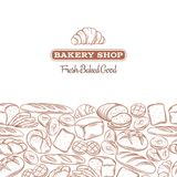 Page design for bakery Stock Image