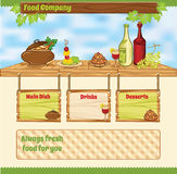 Food template Stock Photography