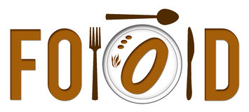 Food Text With Plate Royalty Free Stock Photos