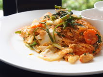 Food thai. Dried Suki includes many vegetables on a white plate Royalty Free Stock Image