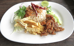 Food thai fried rice with shrimp paste Royalty Free Stock Photography