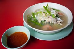 Food thai seafood. Food thai,food of asia on the seafood Royalty Free Stock Photo