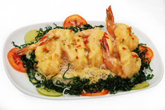 Food of Thailand. Shrimp with lemon sauce Stock Photo