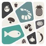 Food theme abstract background Royalty Free Stock Photos