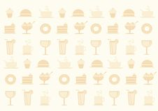 Food theme background Royalty Free Stock Images