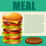 Food theme with hamburger Stock Images